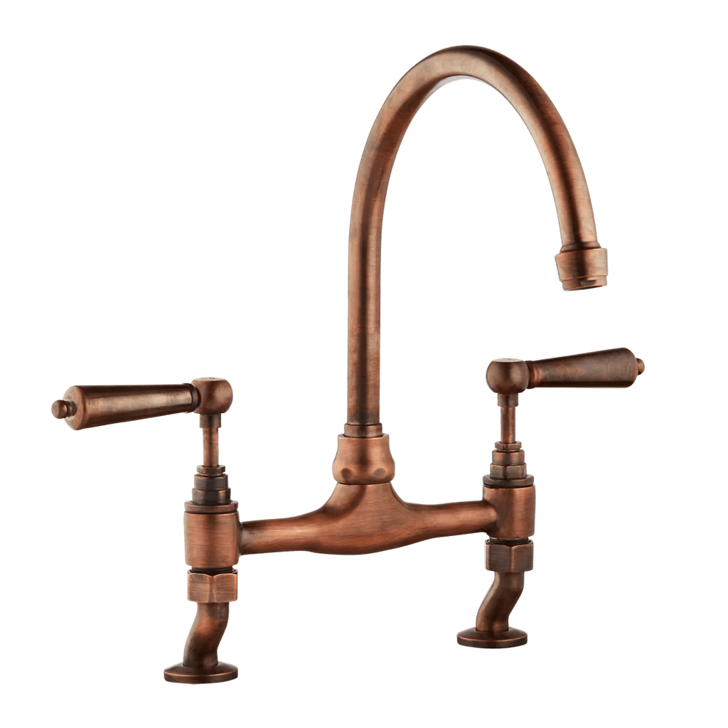 Tapware Brisbane Traditional Kitchen Mixer Tap Porcelain Levers
