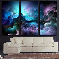 Picturesque Hd Printed Piece Canvas Art Abstract Psychedelic Nebula Space Paintingpanel Paintings Hd Printed Piece Canvas Art Abstract Psychedelic Nebula Space 3 Piece Canvas Art Birch Trees 3 Piece C