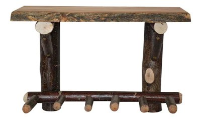 Moose Wood Log Shelf With Peg Rack Rustic Decor