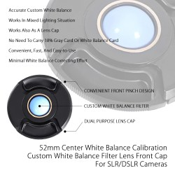 Staggering Dslr Cameras By Center Balance Calibration Custom Balance Filter Center Balance Calibration Custom Balance Filter Lensfront Cap