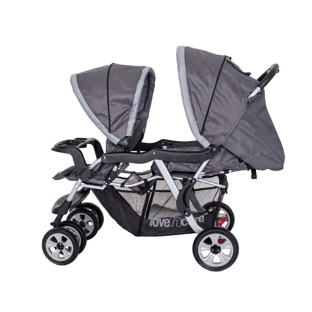 Double Pram Australia Reviews Love N Care Twin Hi Rise Tandem Double Stroller