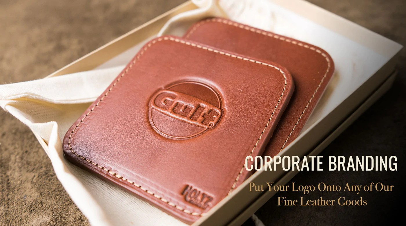 Leather Shop Corporate Branding Put Your Logo Or Mark On Our Fine Leather Goods