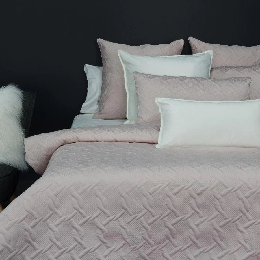 Blush Pink Quilt Cover Aiden Quilted Blush Duvet Quilt Cover Set