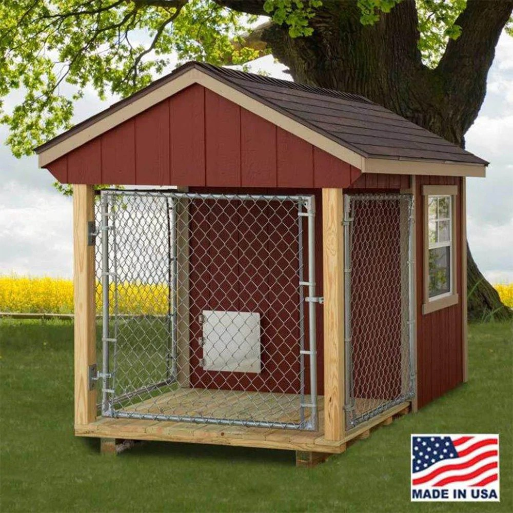Dog House Ez Fit Sheds 5 X8 Outdoor Medium Dog Kennel With Run