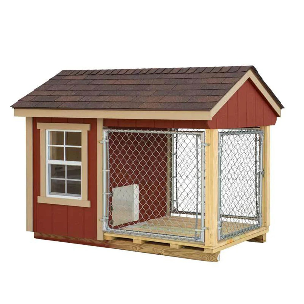 Dog House Ez Fit Sheds 4 X7 Outdoor Small Dog Kennel With Run