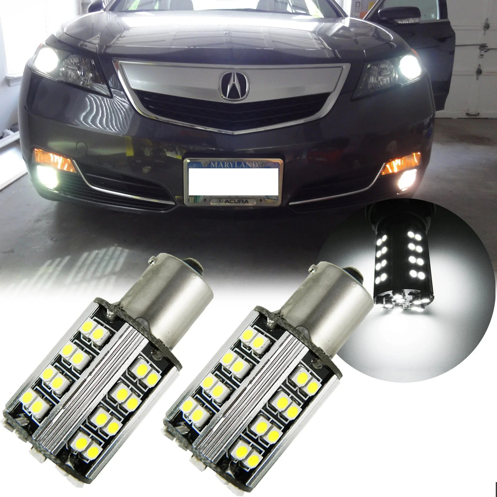 Led Verlichting 50 Lampjes 6000k White 1157 50 Smd Led Lamp For Turn Signal Parking Lights