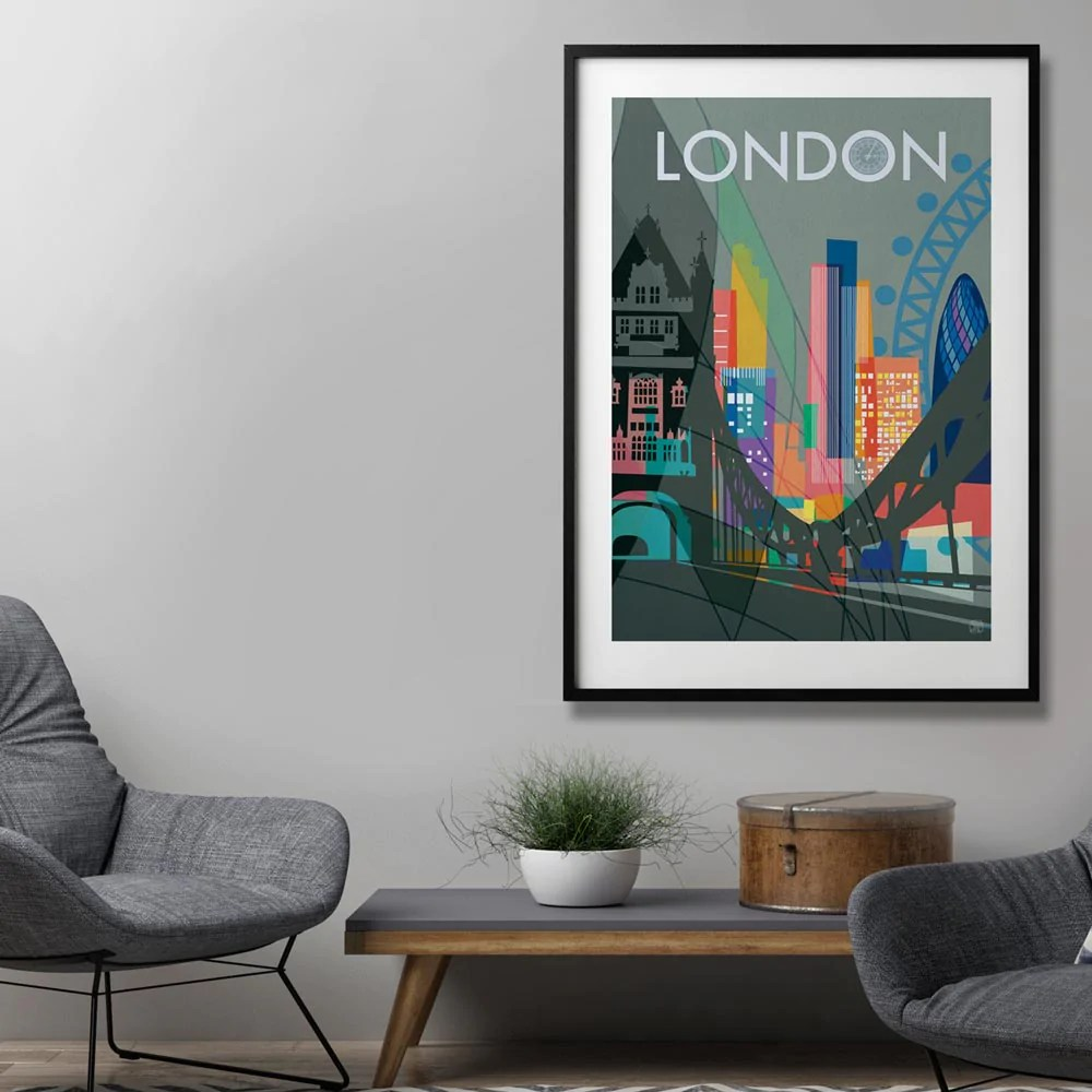 Wall Prints For Living Room Australia Competition Win London Art Print Printspace Art Melbourne