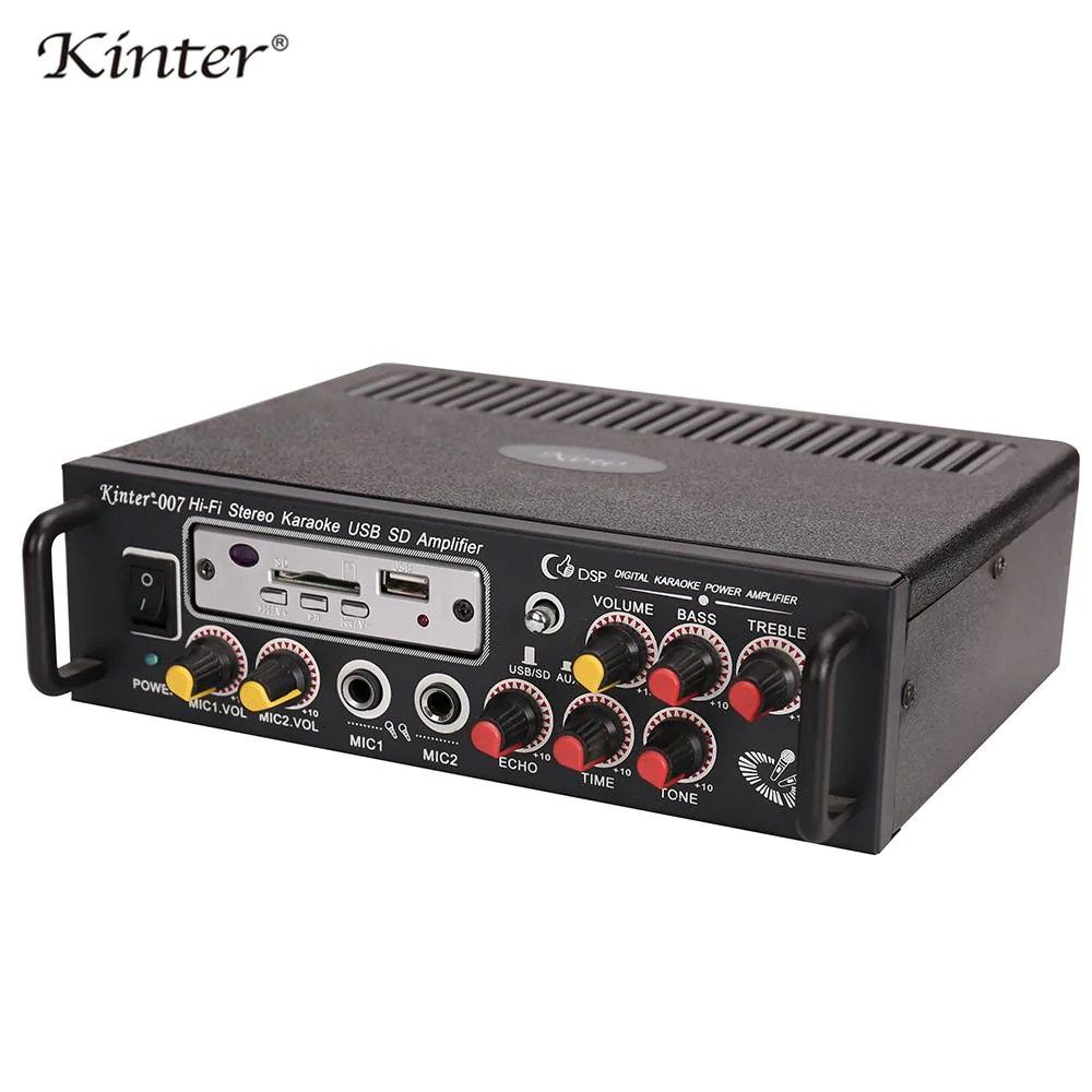 Audio Echo Kinter 007 Audio Amplifier Hi Fi Stereo Sound With Usb Sd Mic Input Bass Treble Echo Tone Control Supply Power 220v In Home