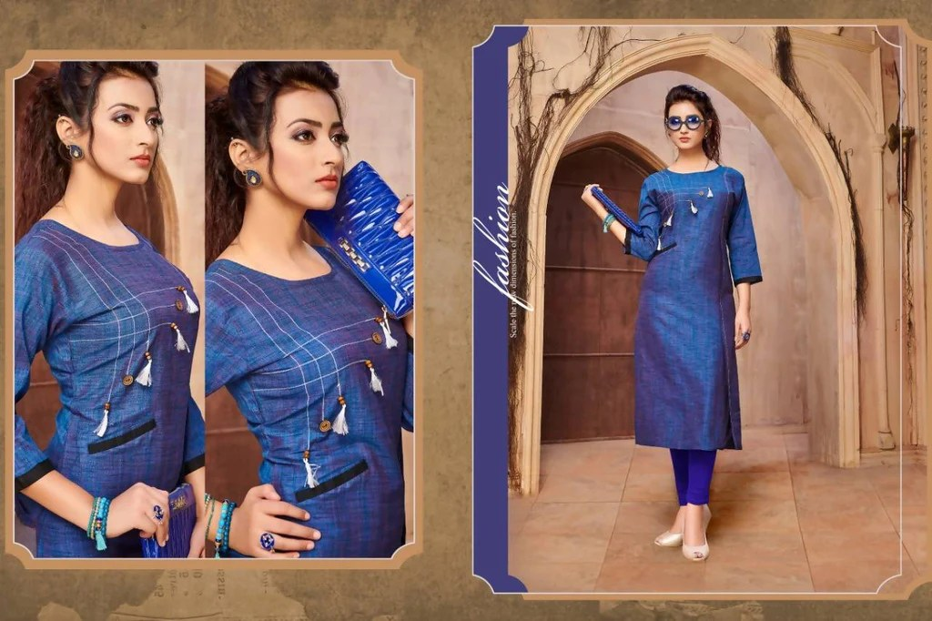 Manvi Fashion Women39s Designer Partywear Blue Color Khadi