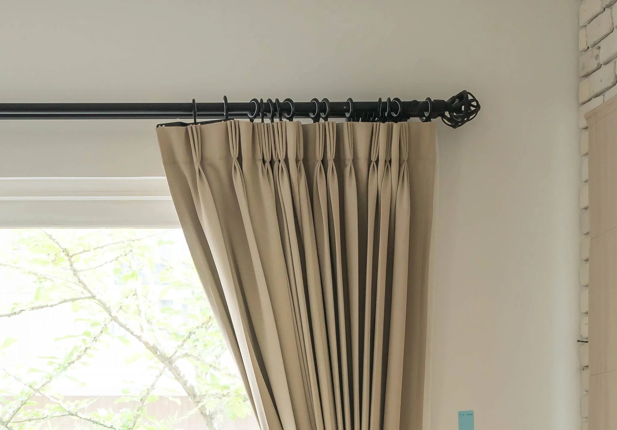 Wall Mount Curtain Track How Do I Know If I Can Fit A Pole At My Window