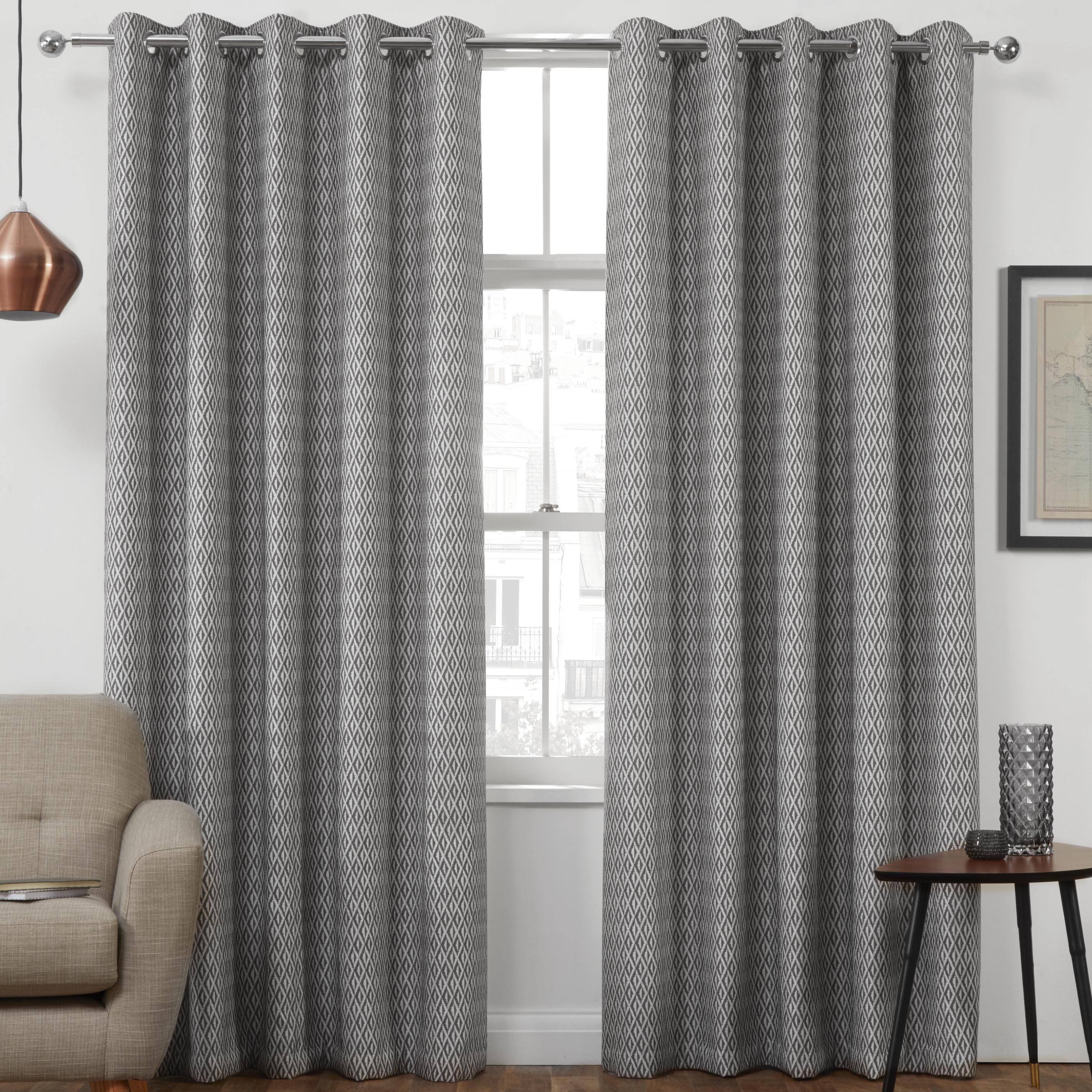 Ready Made Thermal Curtains Phoenix Thermal Interlined Luxury Ready Made Eyelet Curtains Charcoal