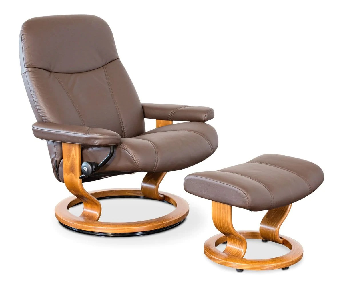 Stressless-world.com Stressless Consul Recliner Ottoman Dania Furniture