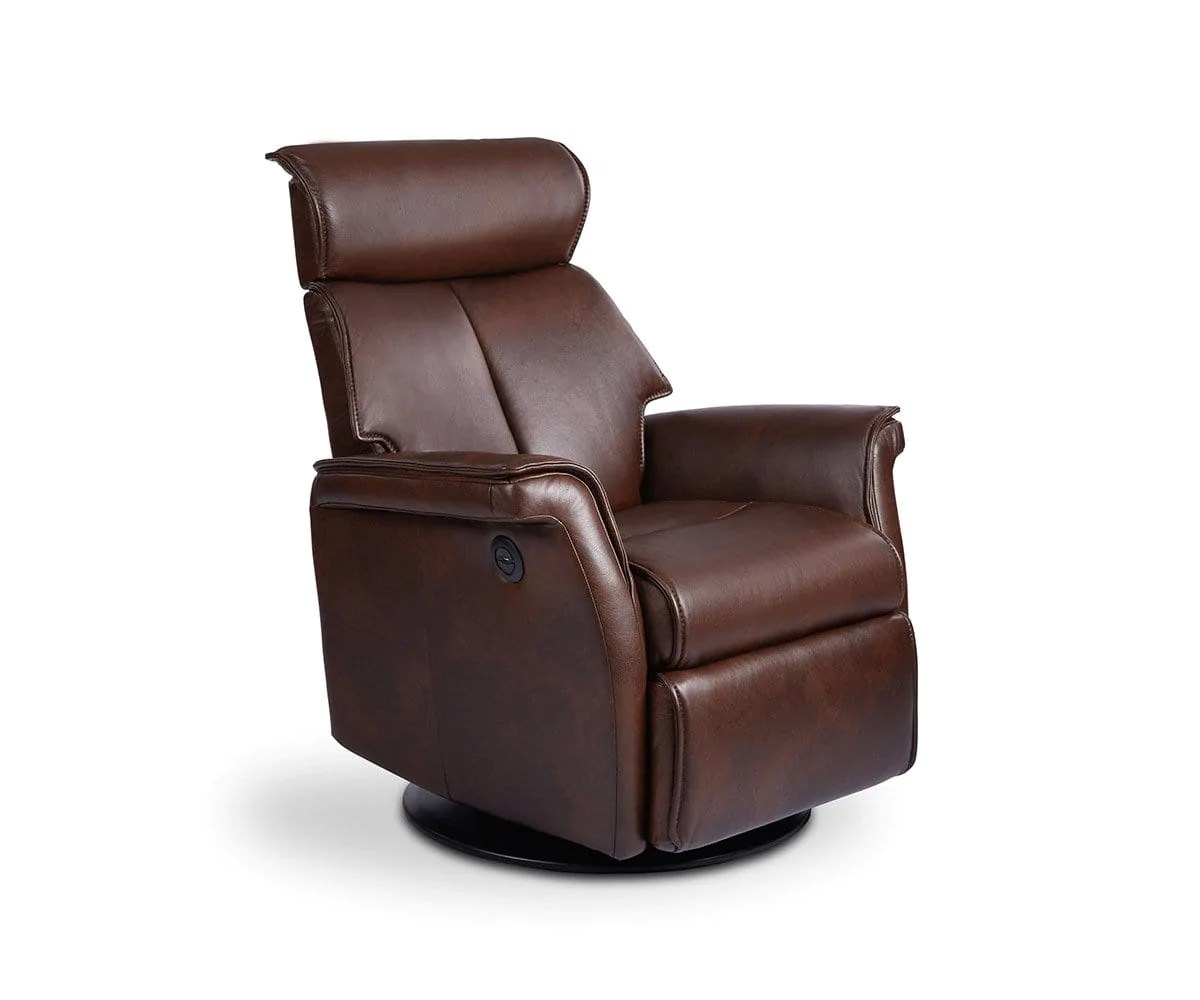Electric Recliner Leather Chairs Korsvik Leather Power Recliner Small Dania Furniture