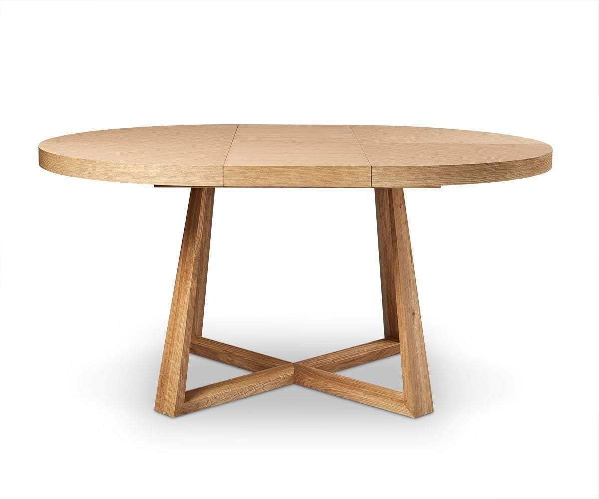 Round Dining Table With Extensions Oliver Round Extension Dining Table