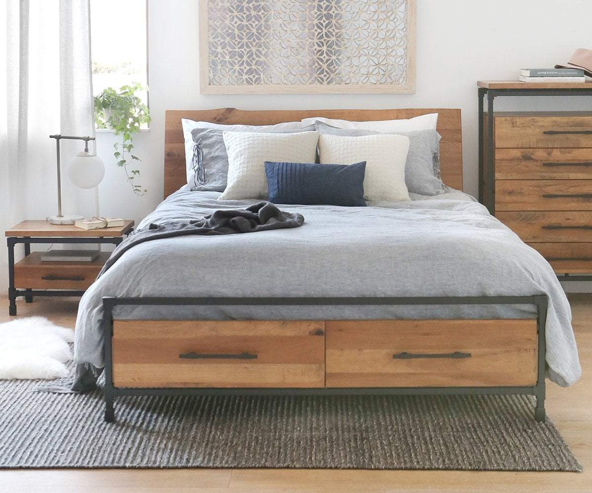 Scandinavian Furniture Bed Karsten Storage Bed