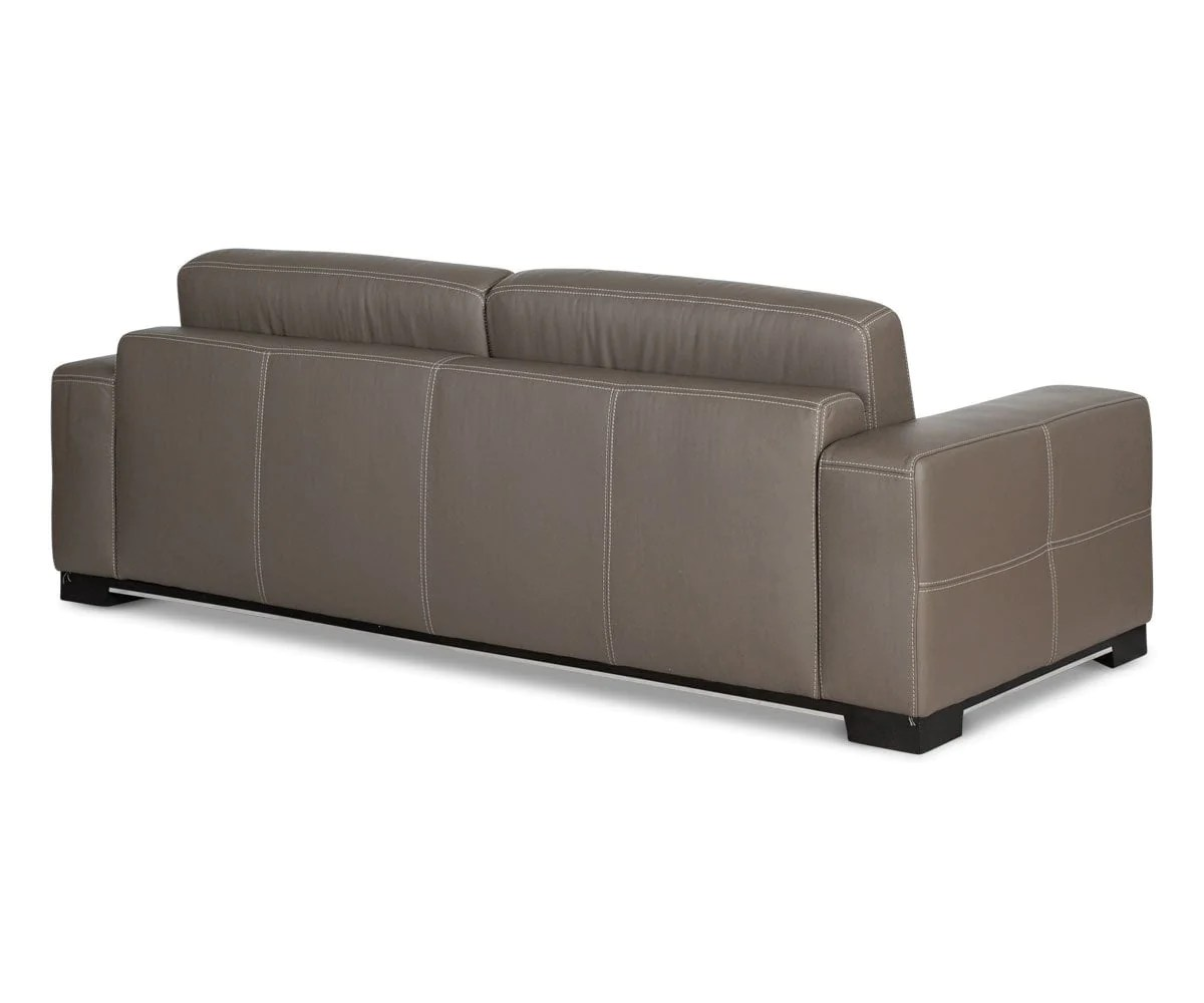 Eckcouch Taupe Andreas Leather Sofa