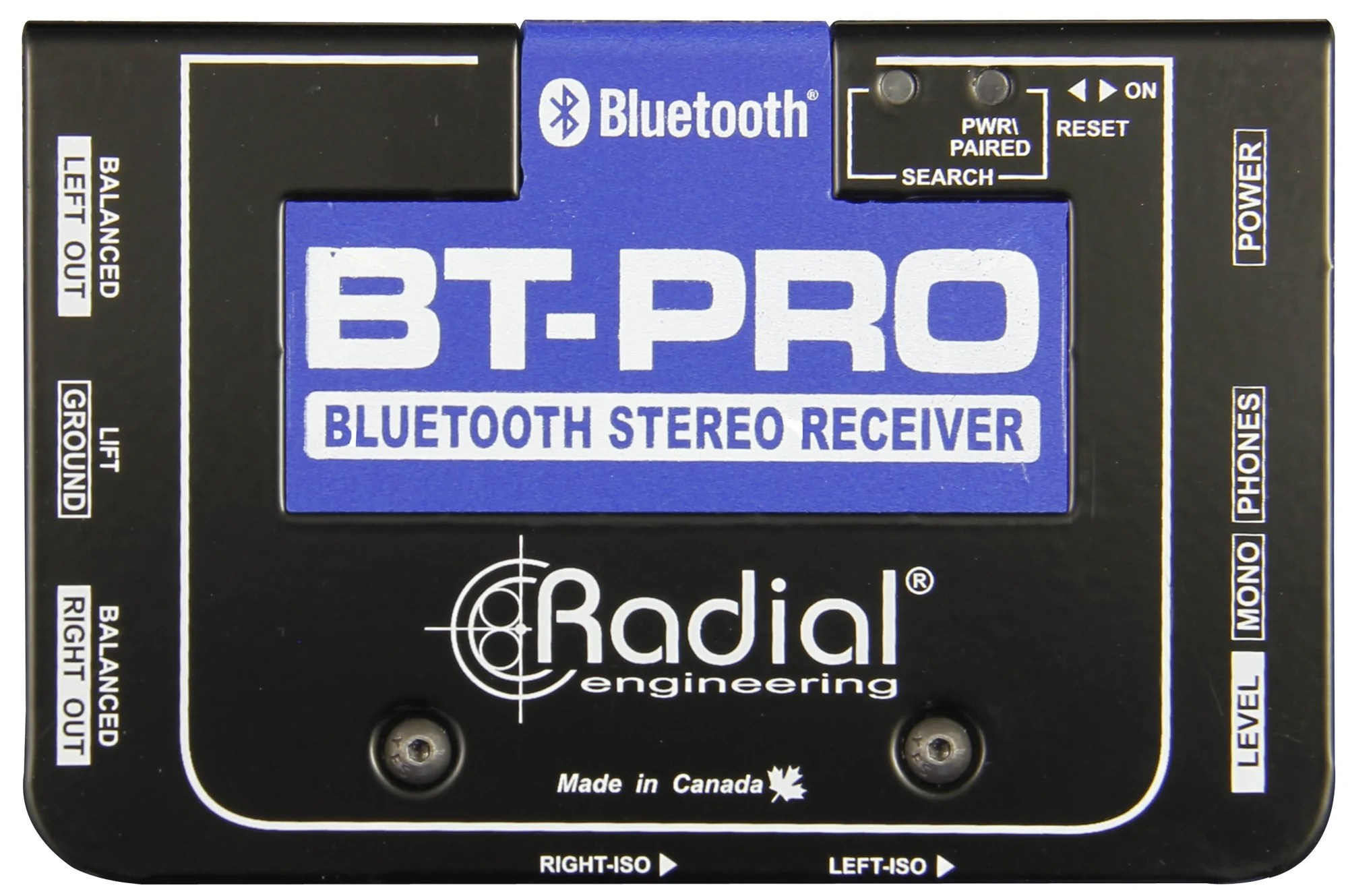 Box Bluetooth Radial Bt Pro Stereo Bluetooth Di Box