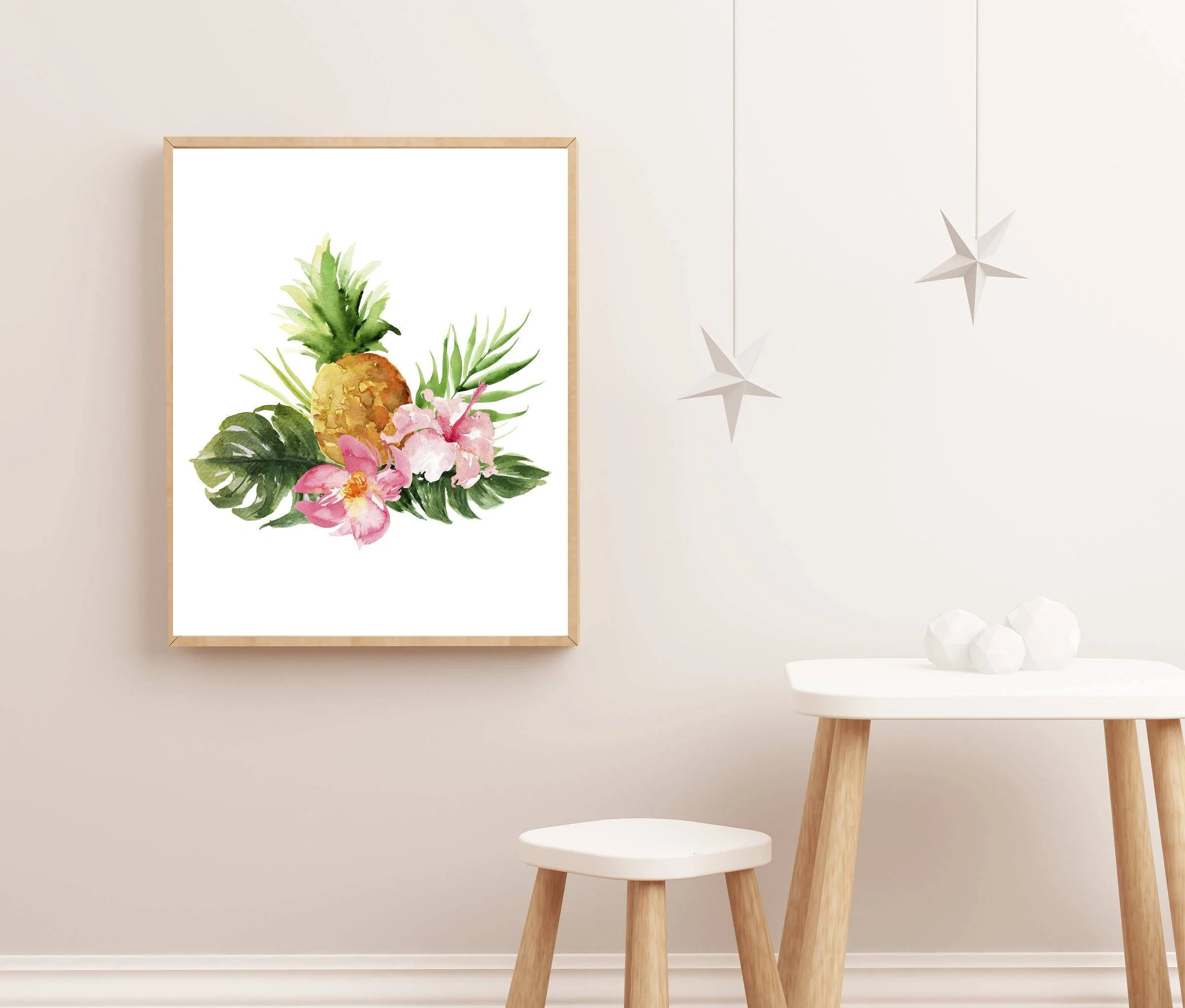 Nursery Prints Girl Girl Nursery Art Tropical Nursery Print Pineapple Art Baby Girl Nursery Art Floral Nursery Art Nursery Decor For Girl Charmingblush