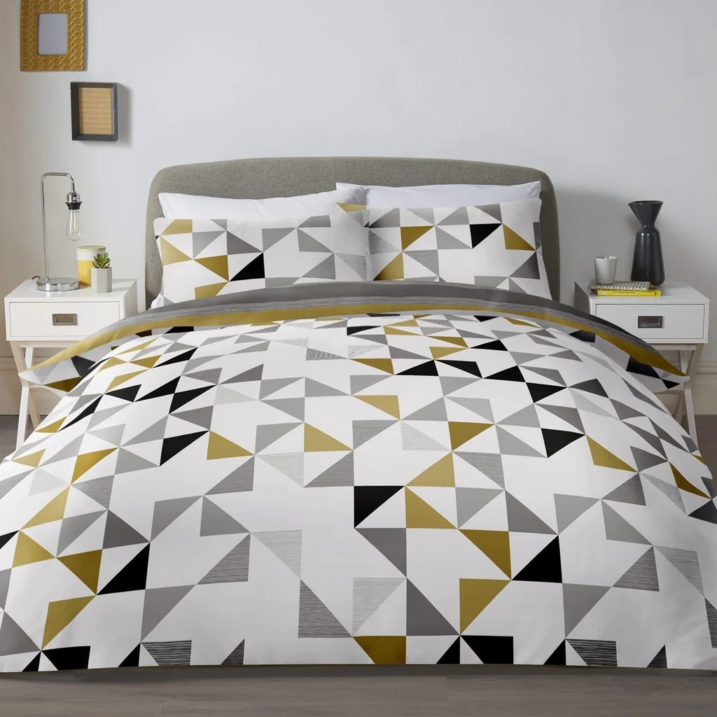 Breaking Bad Bettwäsche Bettwäschegarnituren Luxury Duvet Cover Set Pink And Grey Reversible Bedding Geometric Floral Design Möbel & Wohnen