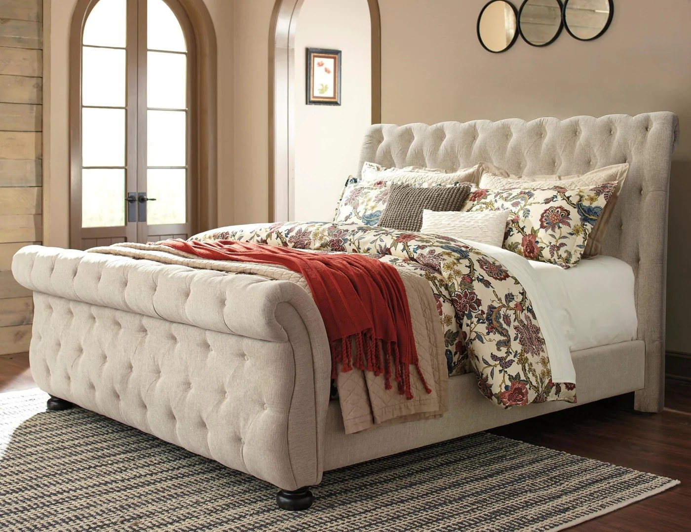 Queen Bed Sale Upholstered Queen Bed By Ashley