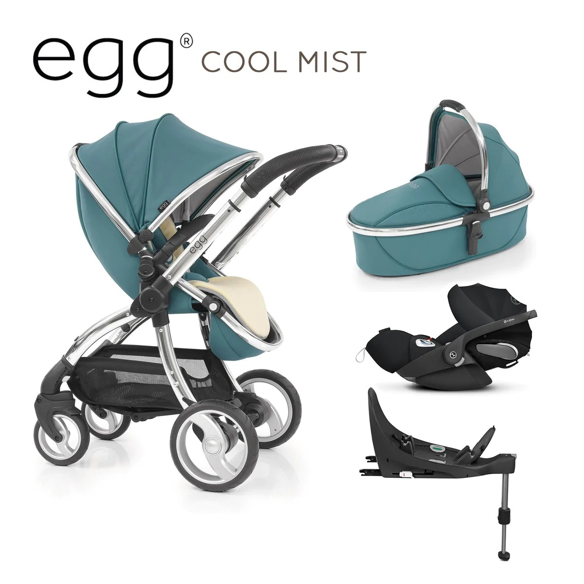 Egg Stroller Cool Mist Egg Travel System Cool Mist With Cybex Cloud Z And Base