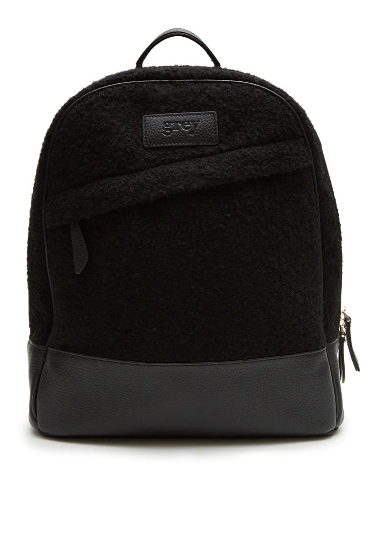 Laptop Orten Grayson Leather Felt Backpack Black