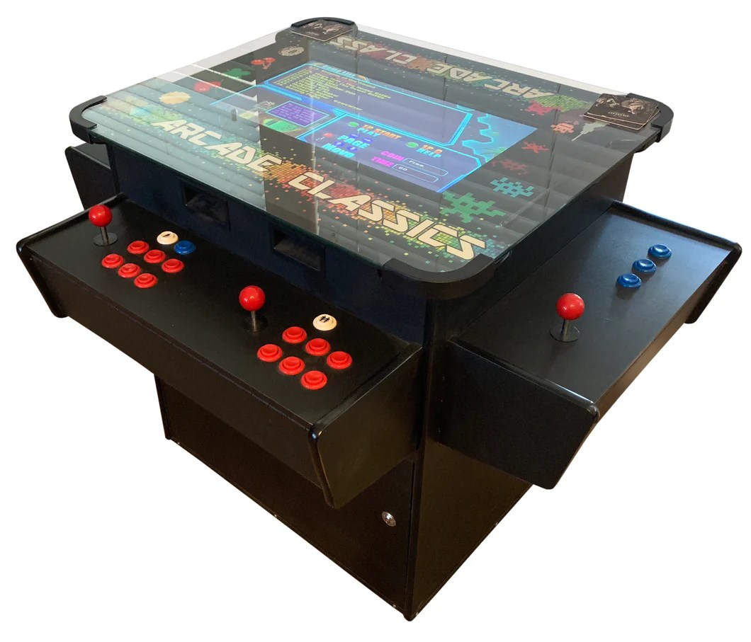 Classic Table Arcade Games Cocktail Table Classic Arcade Machine 3 Sided Secret Level Arcades