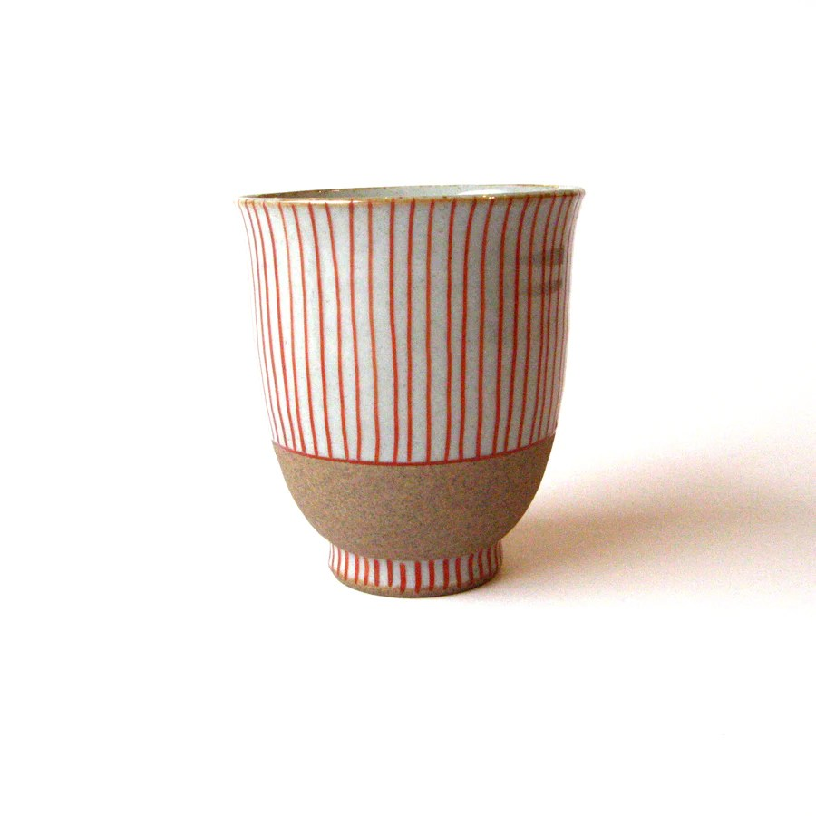 Tasse Ml Japanese Tea Cup With Red Stripes 150 Ml Cha Yi Tea House