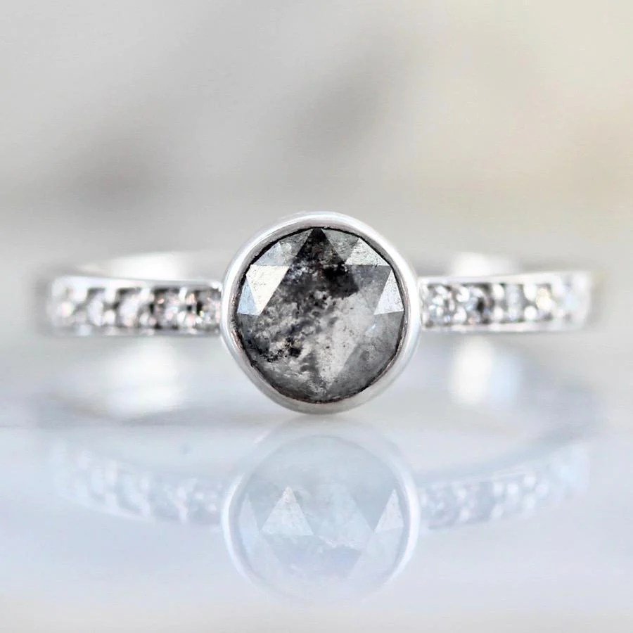 Black Diamond Jessa Round Cut Black Diamond Ring