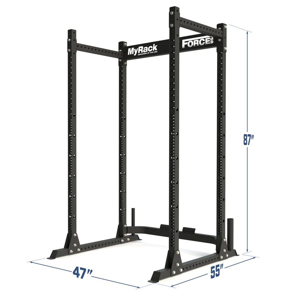 Garage Gym Half Rack Myrack Modular Power Rack 2 000lb Weight Capacity