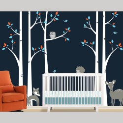 Small Crop Of Birch Tree Wall Decal