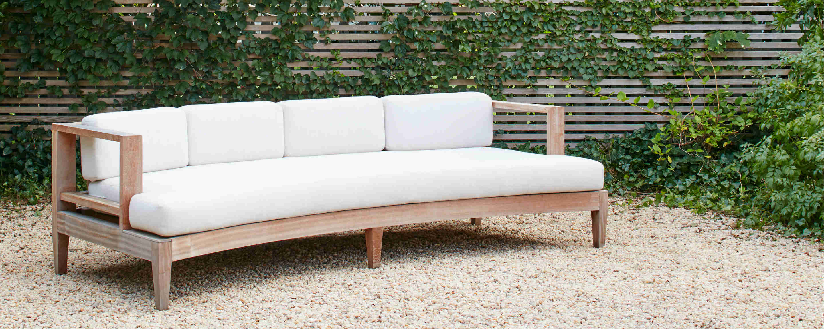 Curved Sofa Sapele Wood Outdoor Curved Sofa Homenature