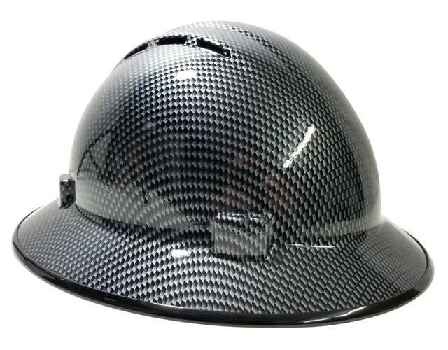 Hhg Custom Hydo Dipped Vented Full Brim Hard Hat 39carbon