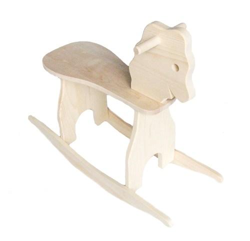 Medium Of Wooden Rocking Horse