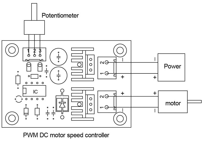 how to build 12v speed controller dimmer
