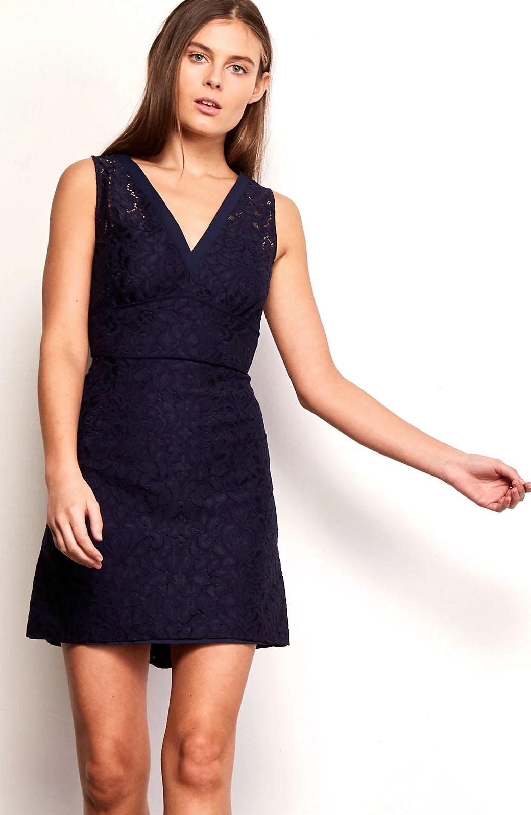 Fullsize Of Navy Blue Lace Dress