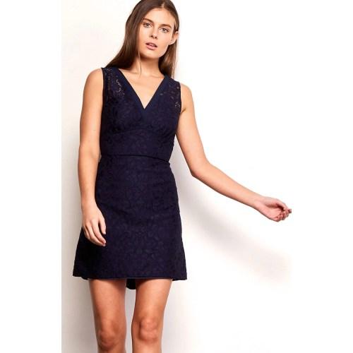 Medium Crop Of Navy Blue Lace Dress