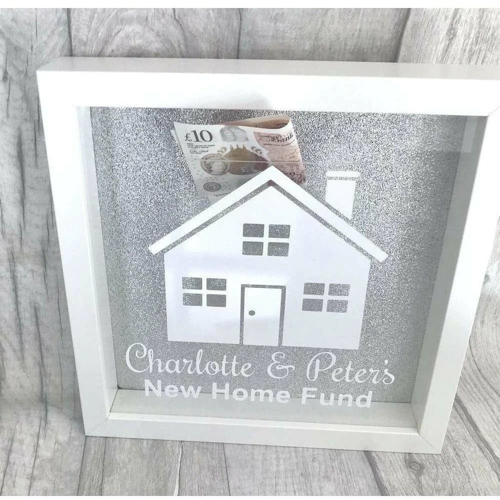 Personalised New Home Gifts Personalised New Home Saving Money Glitter Box Gift