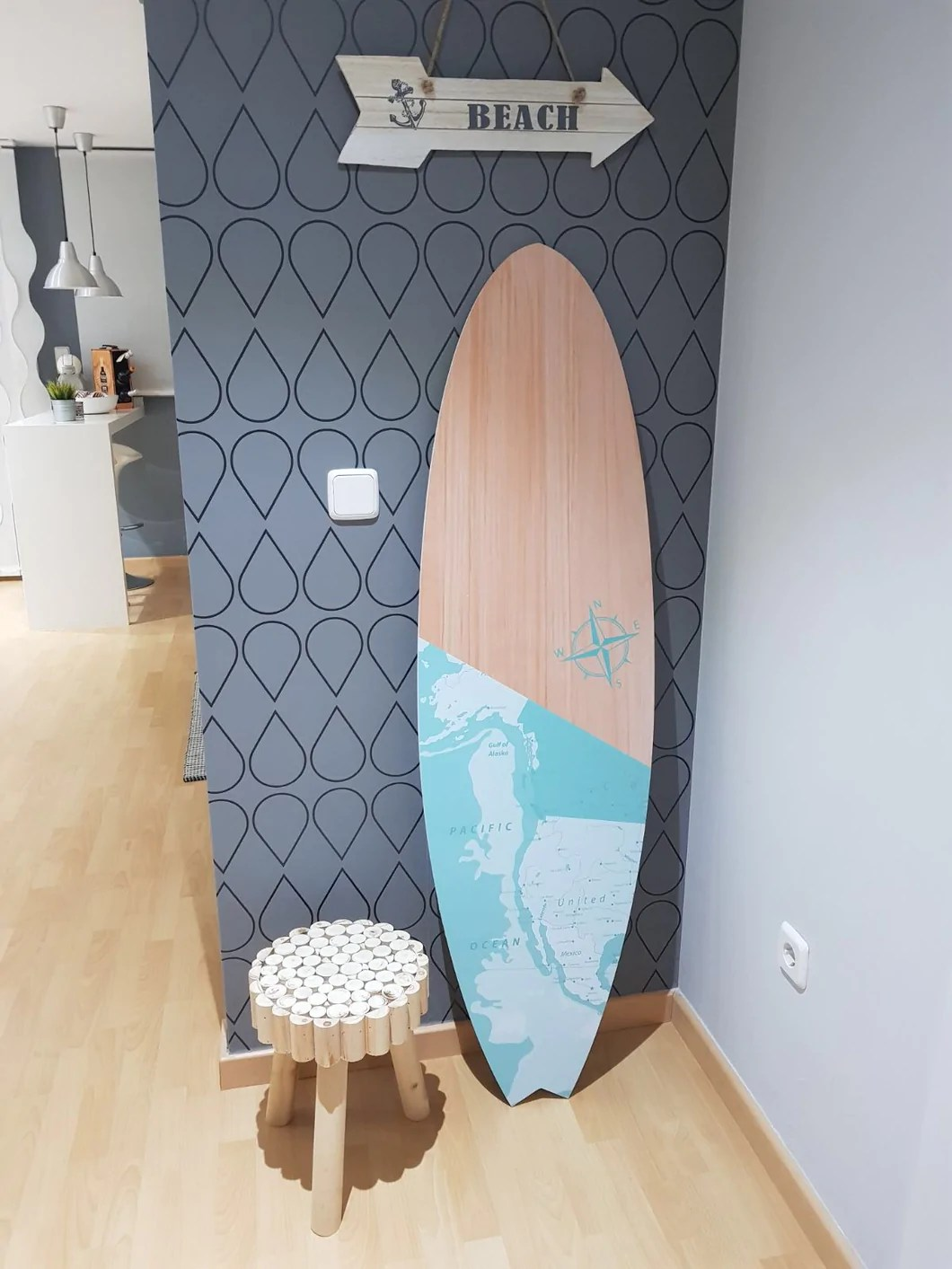 Tablas De Surf Decorativas Tabla Surf Decoración Madera Marineando