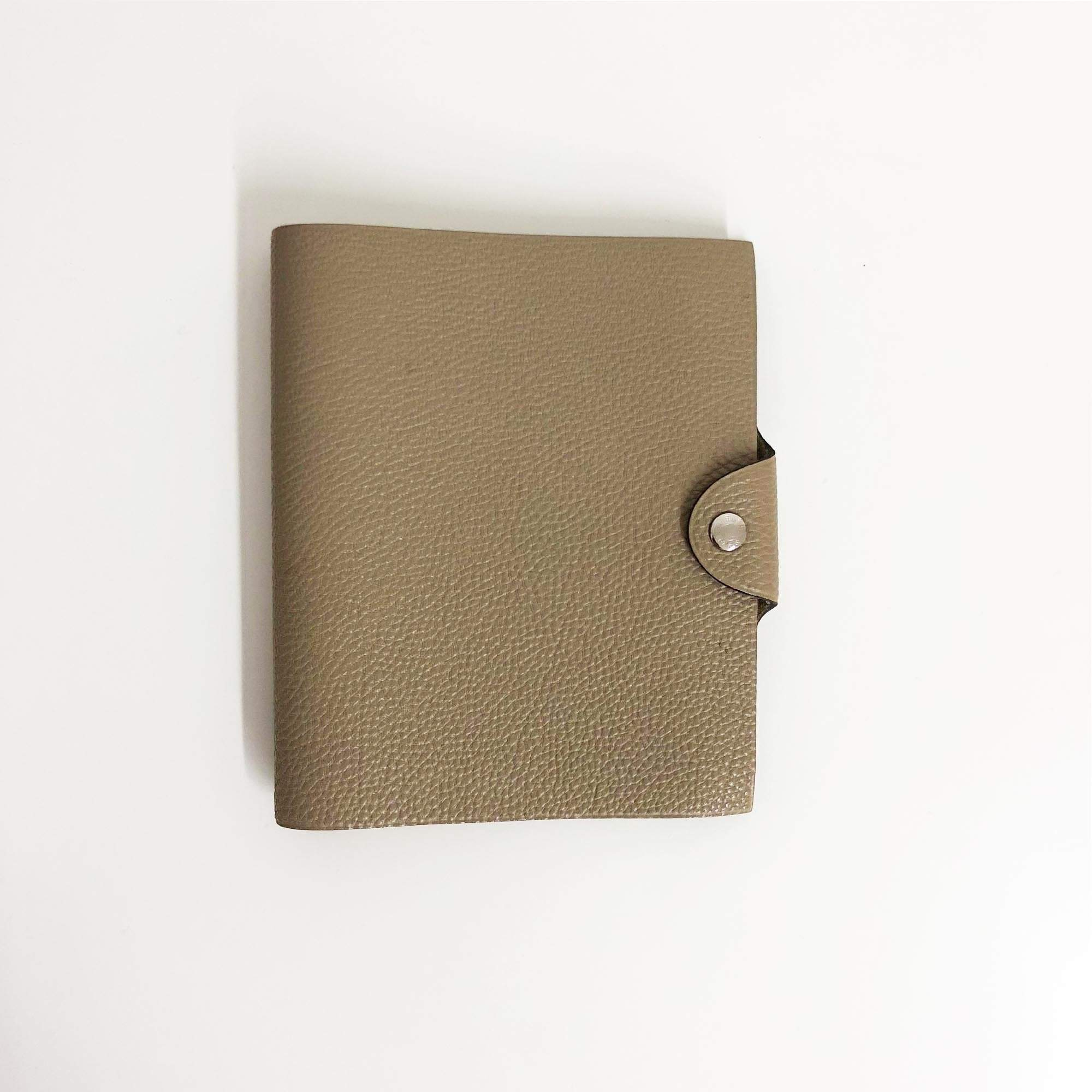 Garderobe Taupe Hermes Ulysse Notebook Cover Taupe Pm Garderobe