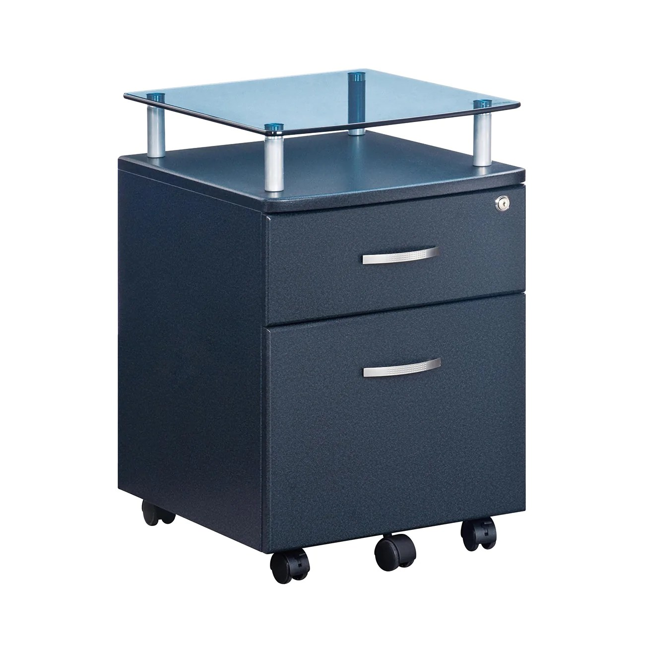 Rolling Filing Cabinets Rolling File Cabinet With Glass Top