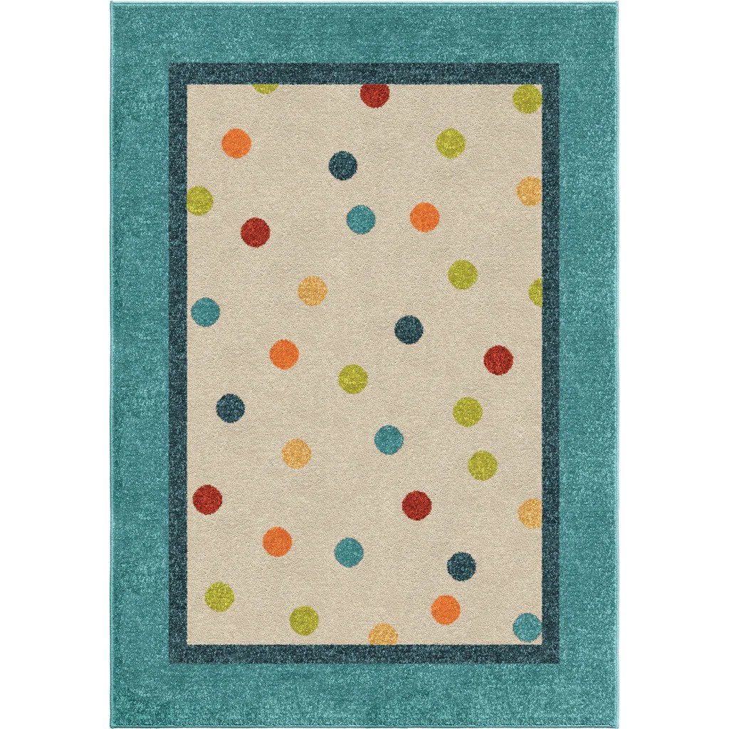 Rugs For Kids Orian Rugs Kids Court Collection Polka Teal Area Rug