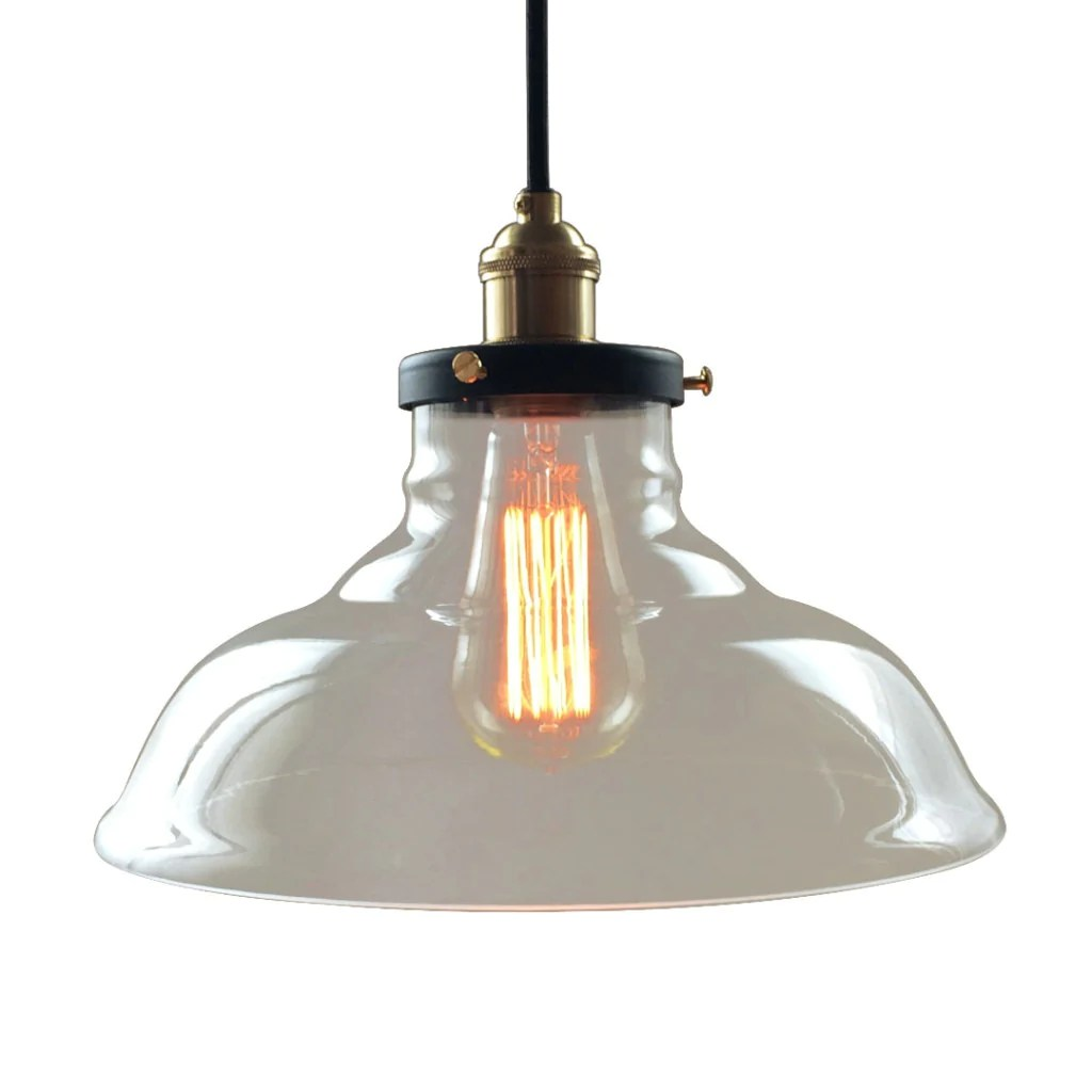 Kitchen Pendant Lighting Glass Bell 1 Lights Large Glass Kitchen Pendant Light