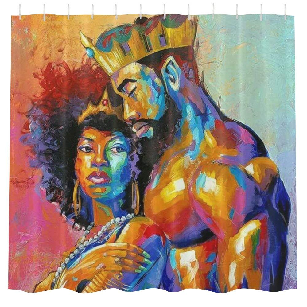Black Queen Shower Curtain Shower Curtains Melanin Inc