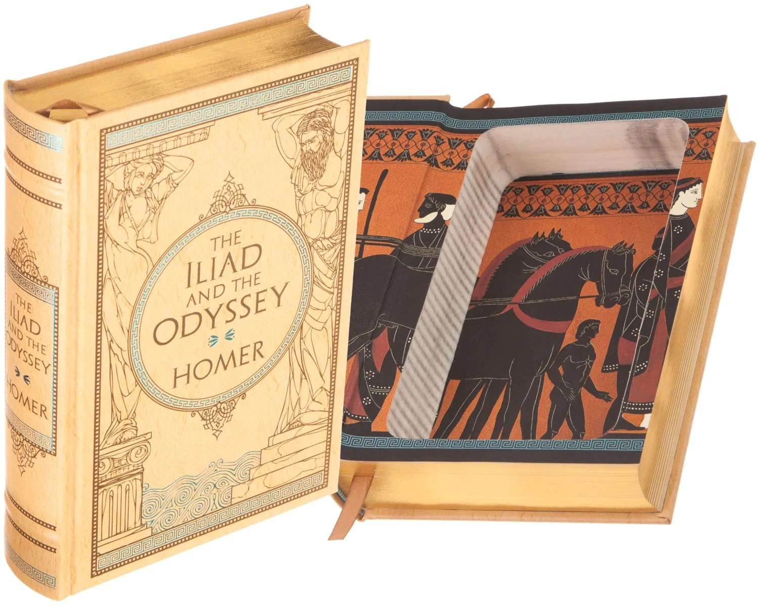Iliad Homer The Iliad And The Odyssey By Homer Leather Bound