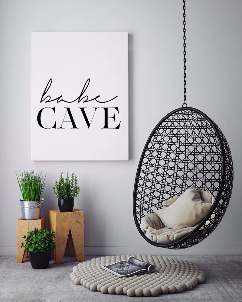 Affiche Scandinave Home Babe Cave Wall Art