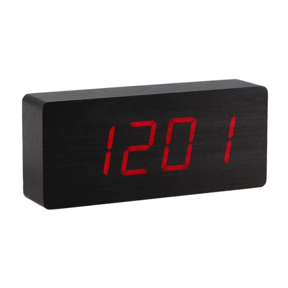 Digital Clock Wooden Led Alarm Clock