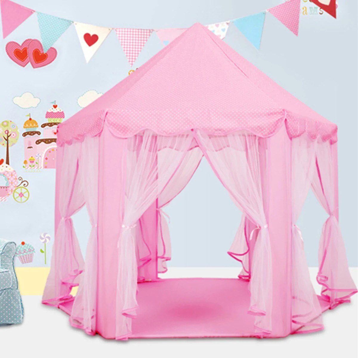 Kids Play Tent Lovely Girls Pink Princess Castle Cute Playhouse Children Kids Play Tent Outdoor Toys Tent For Children Kids