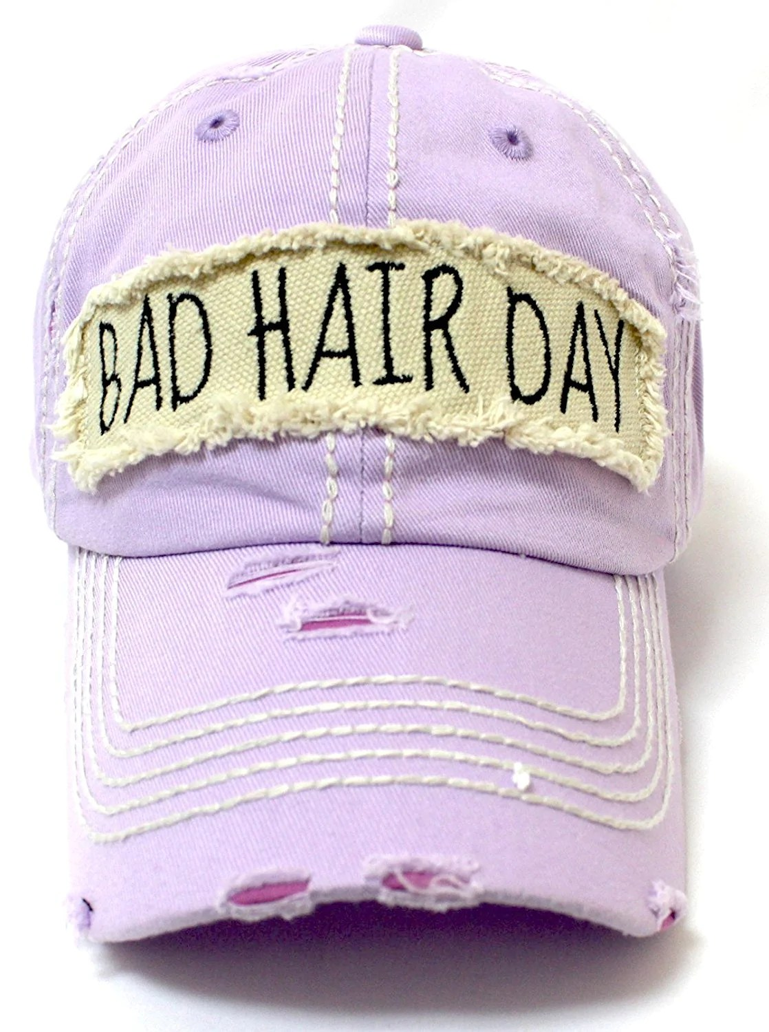Vintage Bad Caps N Vintage Bad Hair Day Patch Embroidery Distressed Baseball Hat