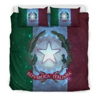 ITALY FLAG BEDDING SET A1  1stTheWorld